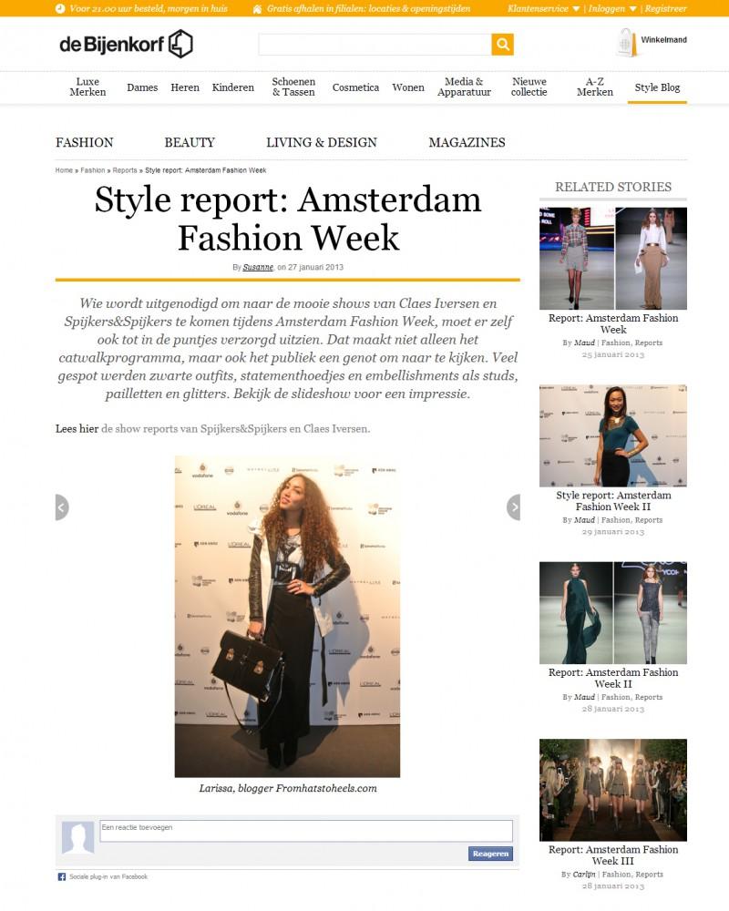 De Bijenkorf Style report