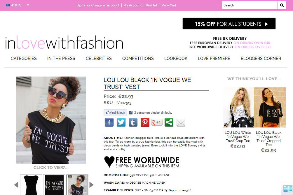 Inlovewithfashion Shop
