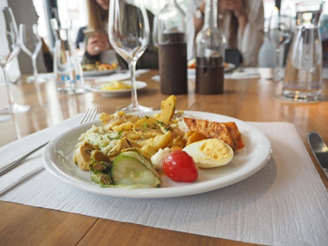 Lunch at Hiltl Restaurant